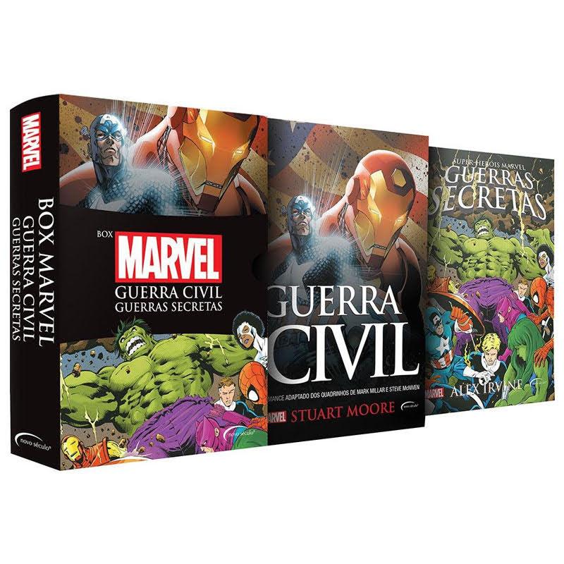 Box Marvel Guerra Civil e Guerras Secretas