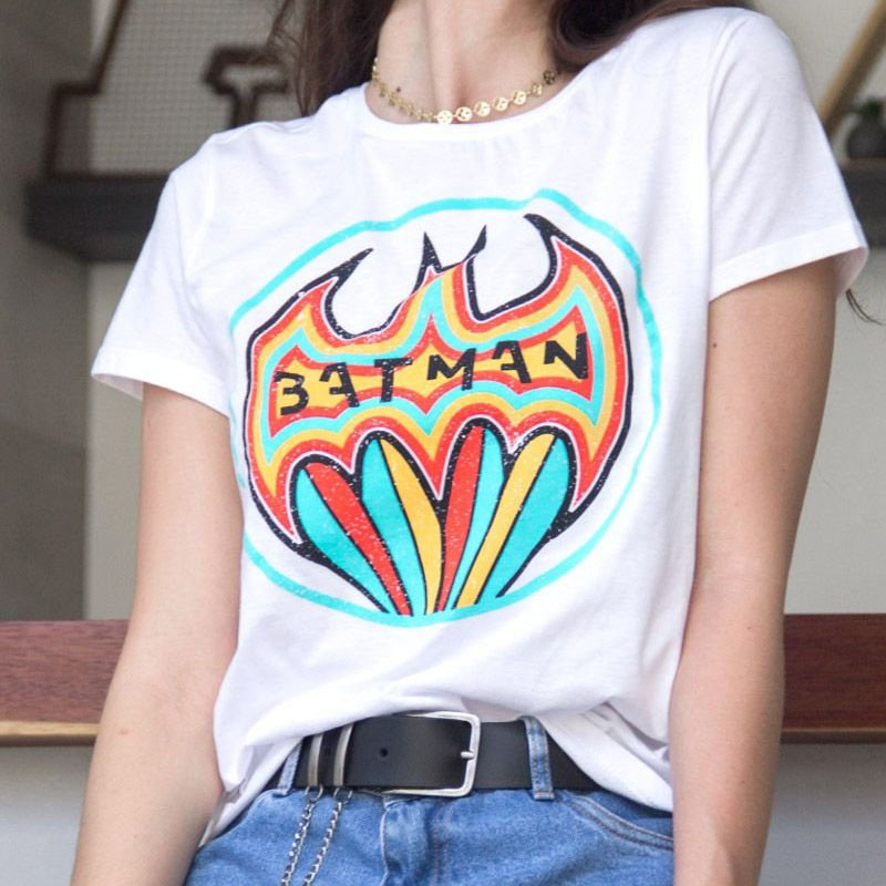 Camiseta Feminina Batman Color
