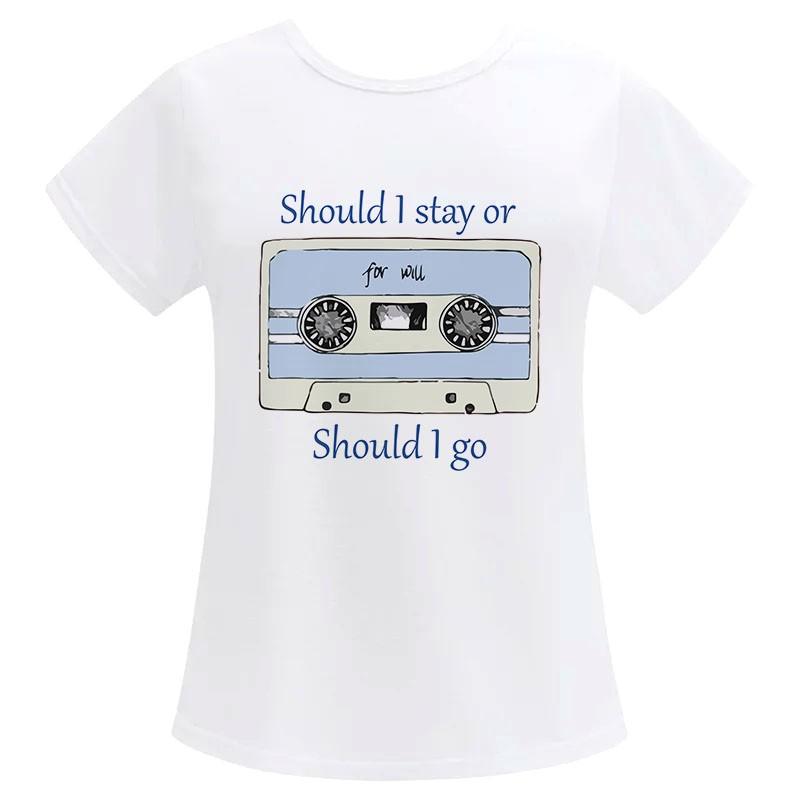 Camiseta Feminina Geek Should I stay Should I go
