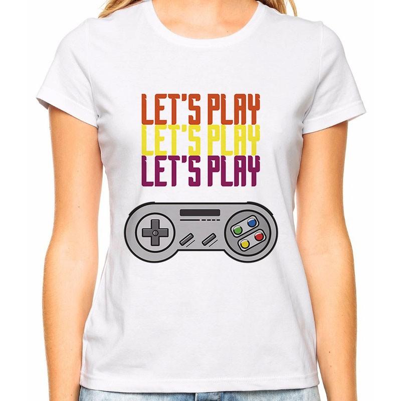 Camiseta Feminina Let's Play