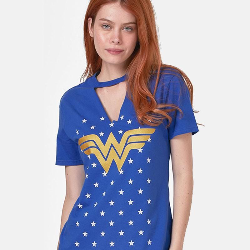 Camiseta Feminina Mulher Maravilha Chocker