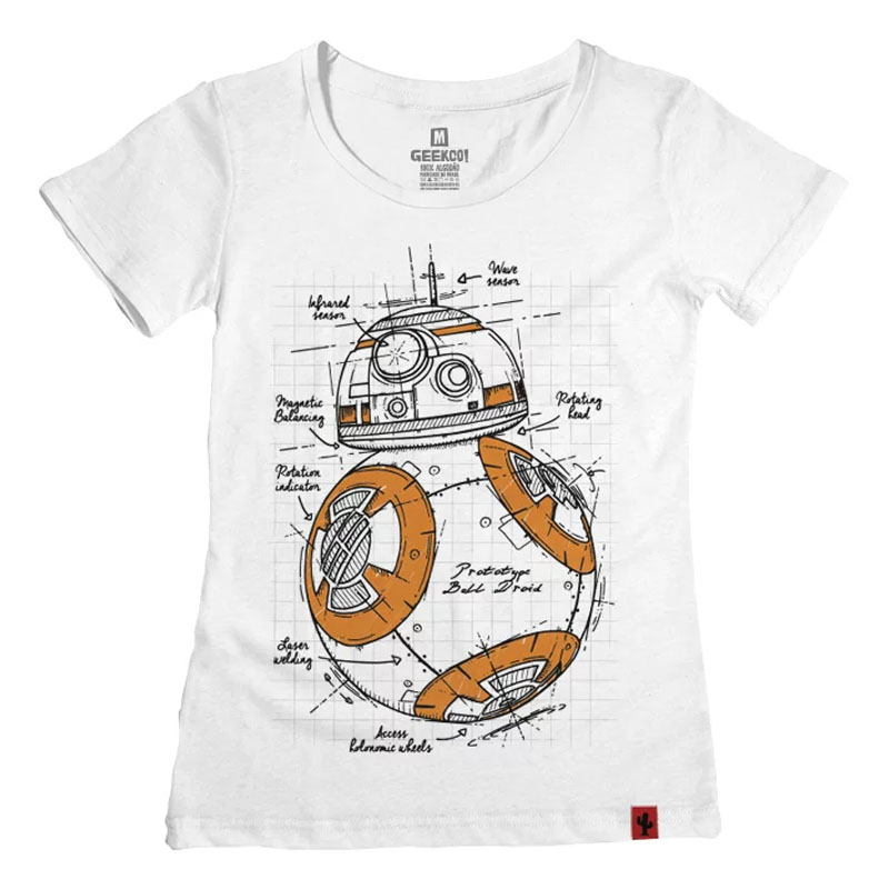 Camiseta Feminina Orange Droid