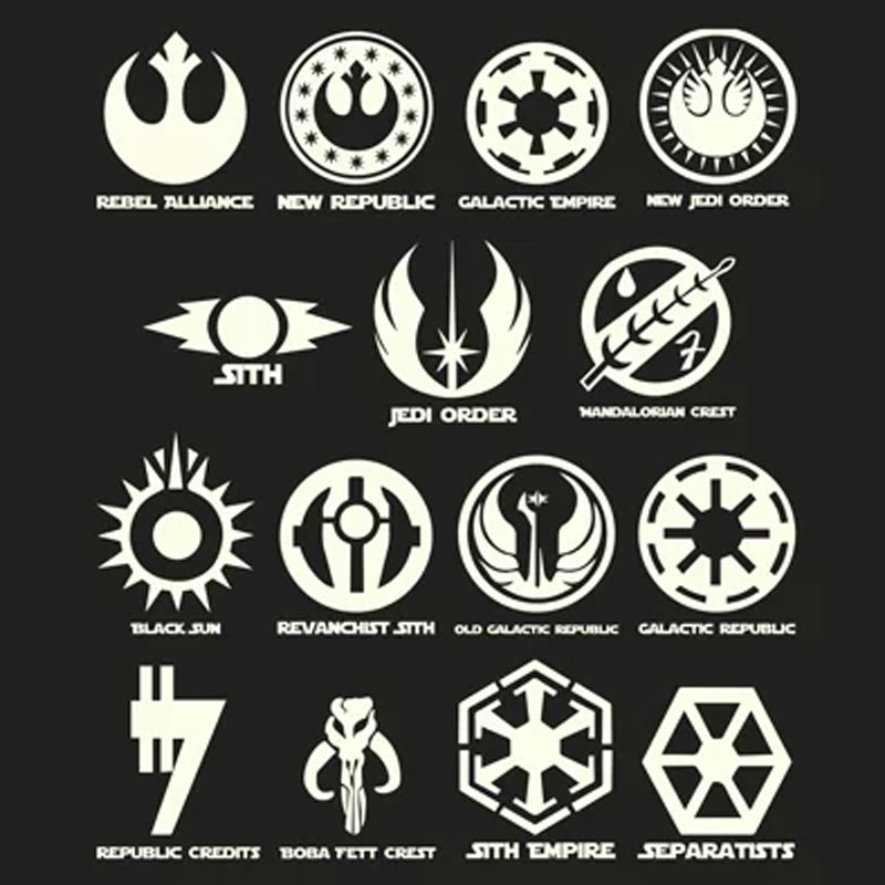 Camiseta Feminina Símbolos Galácticos