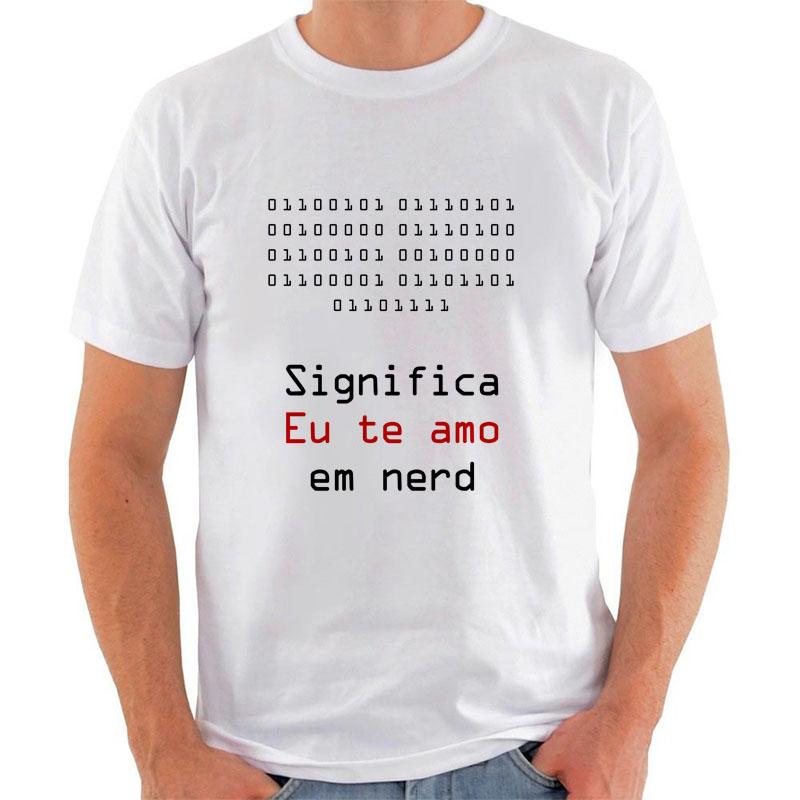 Camiseta Nerd Eu Te Amo Binário