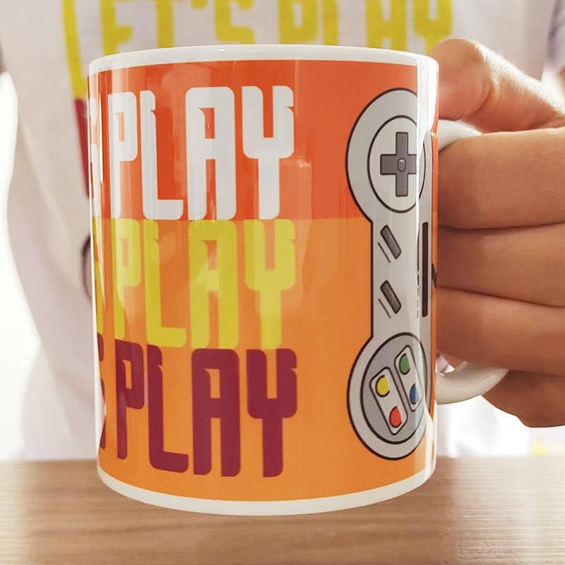 Caneca Retrô Gamer Let's Play