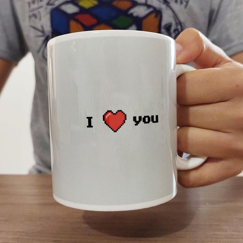 Dia dos Namorados: 2 canecas - I Love You