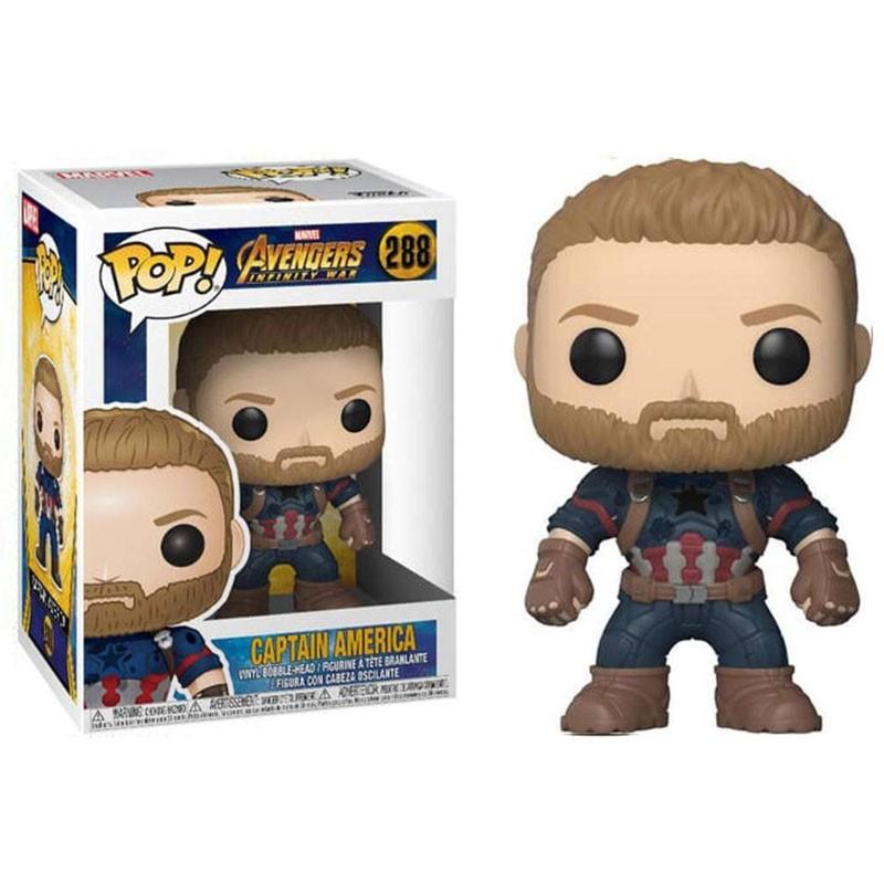 Funko Pop Capitão América Vingadores Guerra Infinita 288