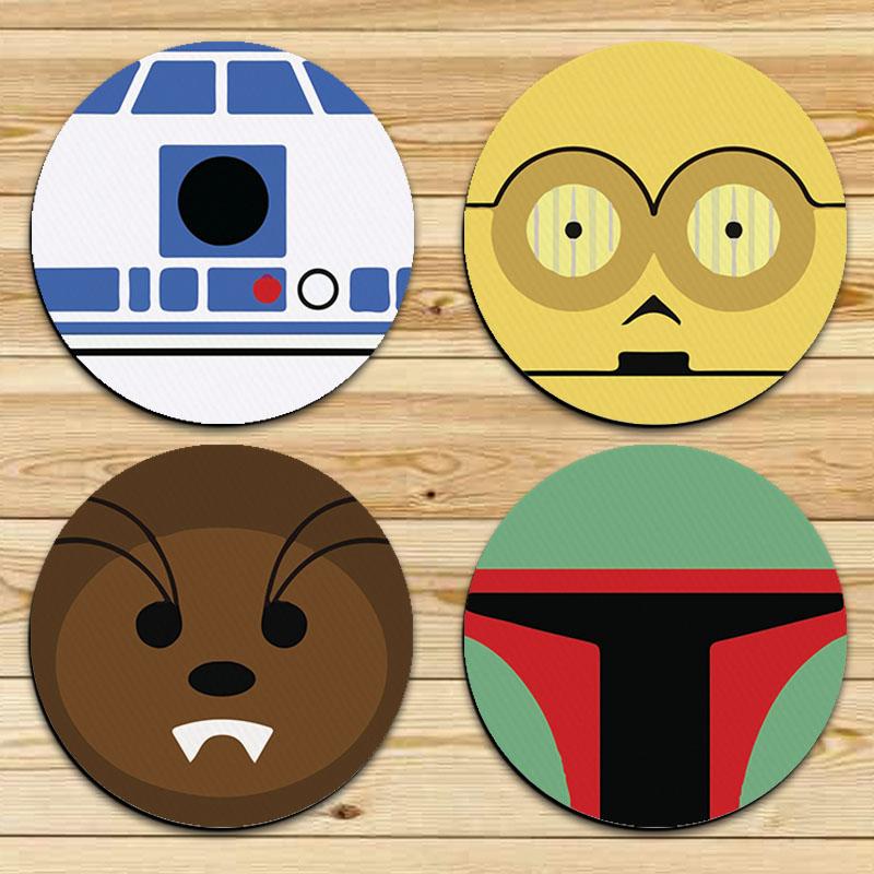 Jogo de Porta Copos Geek Wars Faces