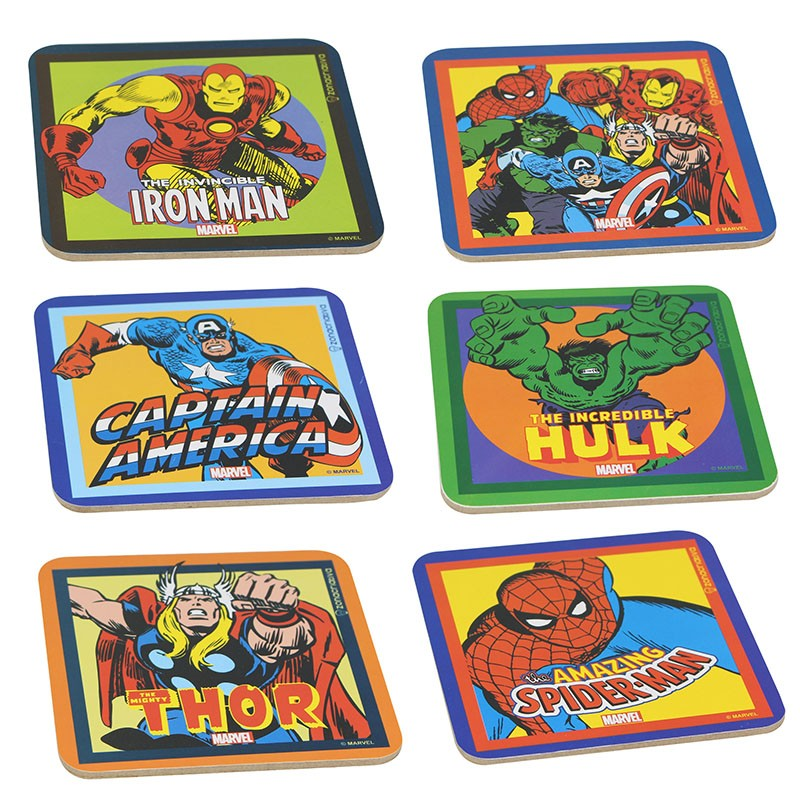 Jogo de Porta Copos Marvel Comics - 6 Peças