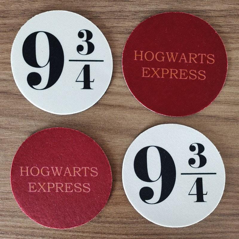 Jogo de Porta Copos Plataforma 9 3/4 Hogwarts Express