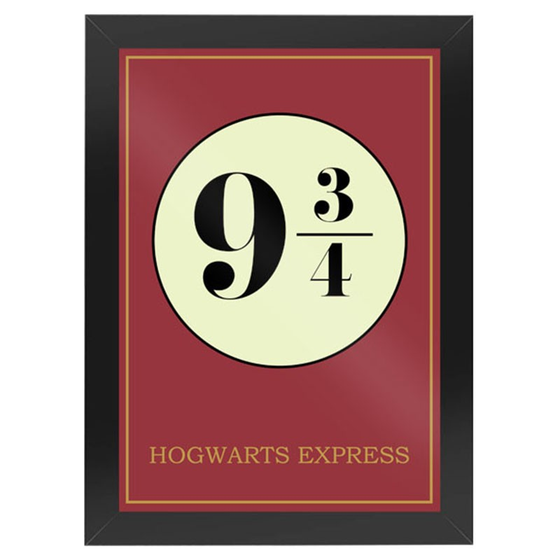 Quadro HP Plataforma 9 3/4 Hogwarts Express