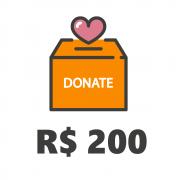 Doação de R$200