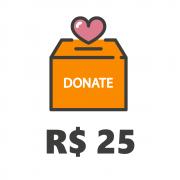 Doação de R$25