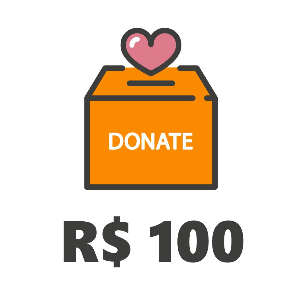 Doação de R$100