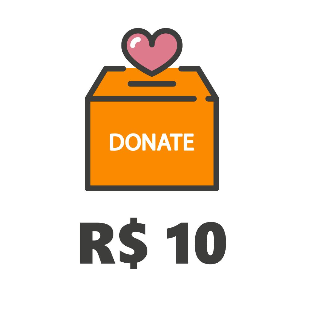 Doação de R$10