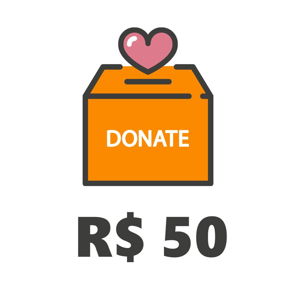 Doação de R$50