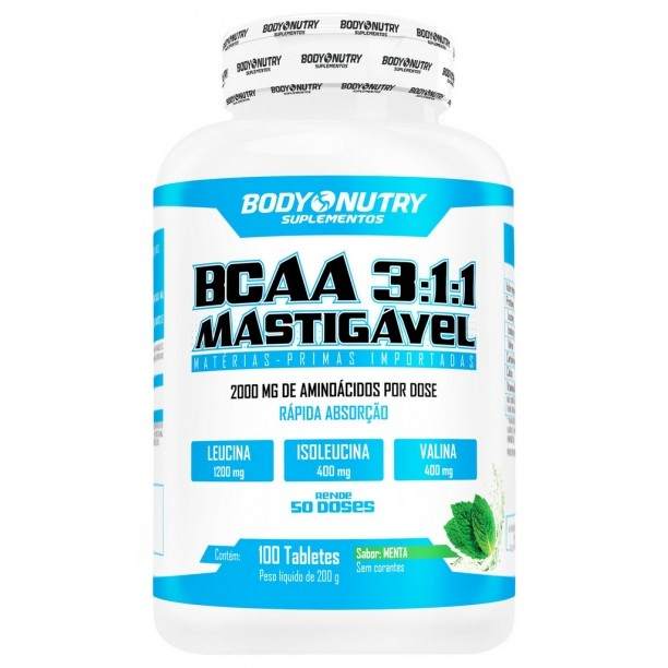 BCAA 3:1:1 Mastigável Clinical Body Nutry 100 tabletes