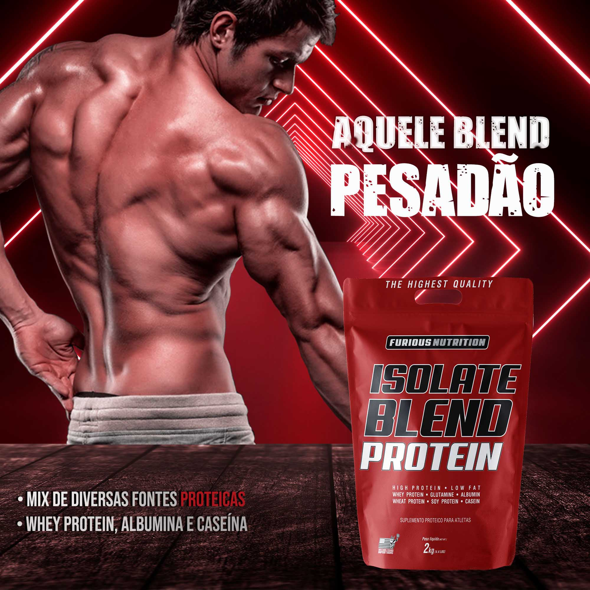 Isolate Blend Protein Furious Nutrition refil 2 kg