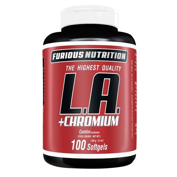 L.A + Chromium Furious Nutrition 100 softgels