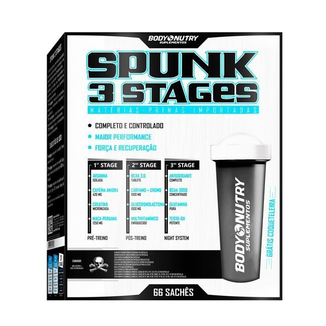 Spunk 3 Stages Body Nutry 66 packs + coqueteleira