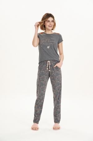 Cor com amor pijama calça longa e manga curta 12585