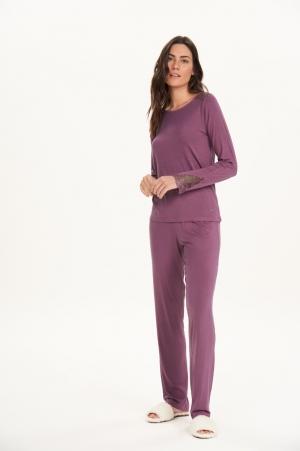 Cor com amor pijama longo viscolycra 12680