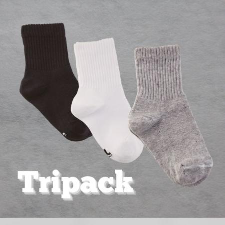 Lupo - Kit 3 meias infantis - 2727 BPC