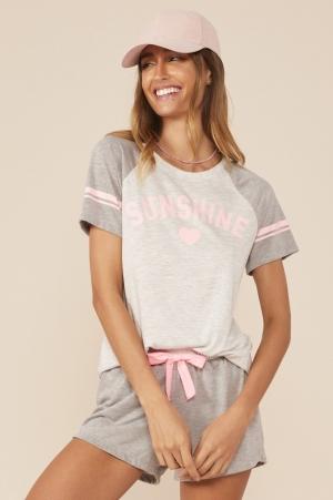 Mensageiro dos Sonhos Pijama Curto em Malha Sunshine 131458