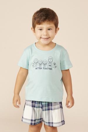 Mensageiro dos Sonhos Pijama Curto Familia Bebê 131433