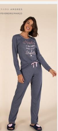 Mensageiro dos sonhos pijama longo 141074