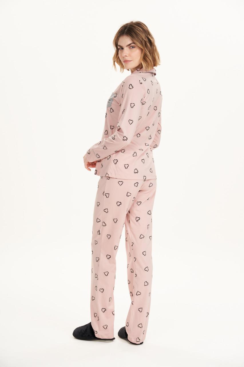 Cor com amor pijama aberto estilo americano 12611