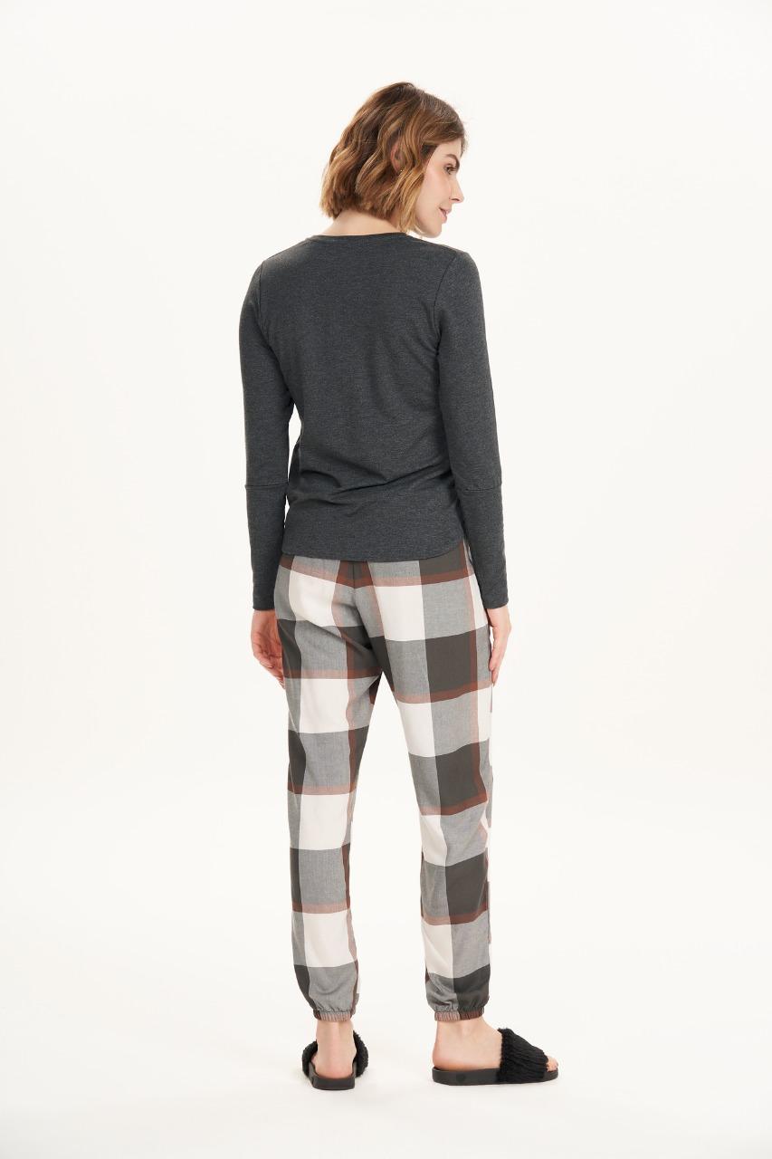 Cor com amor pijama longo em molecotton e flanela 12567