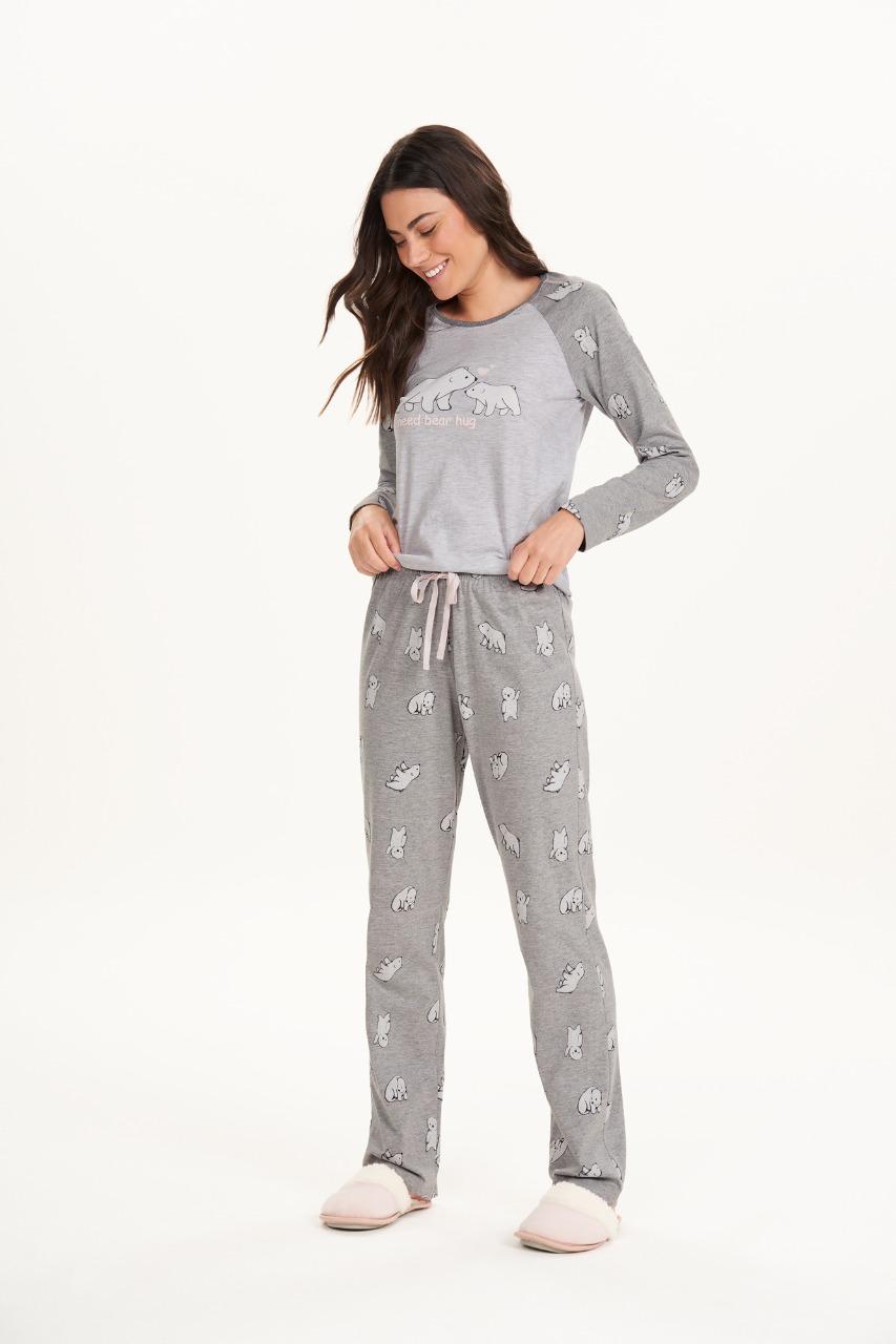 Cor com amor pijama longo urso polar 12618