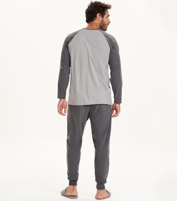 Cor com Amor pijama masculino longo malha algodão 30059