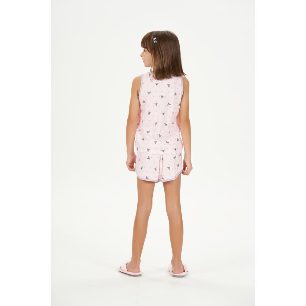 Cor com Amor Short Doll Regata Infantil - 67546