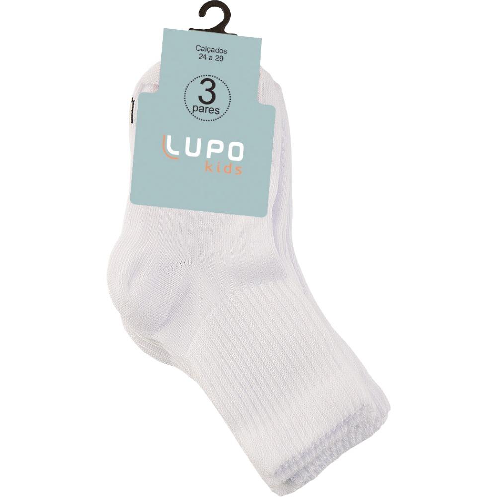 Lupo - Kit 3 meias infantis - 2727/900