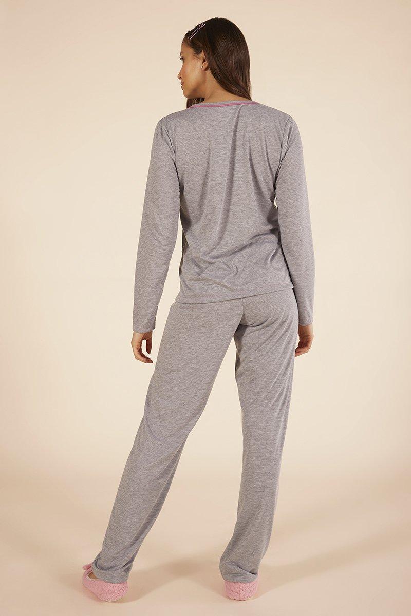 Mensageiro dos sonhos pijama longo pinguins 141075