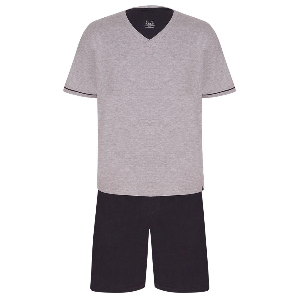 Pijama Verão Curto Masculino com Gola V - Lupo 28000