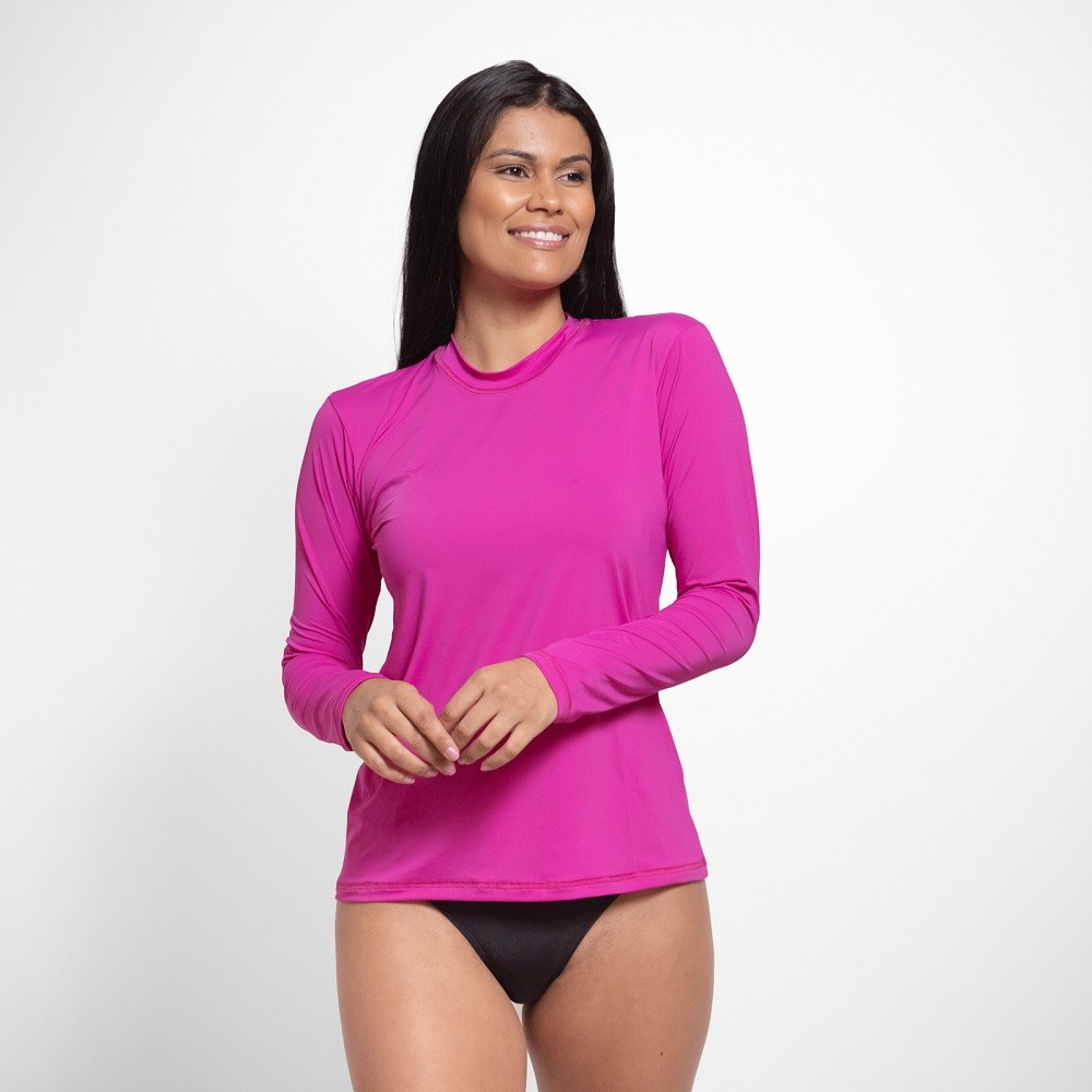 Camisa Manga Longa com Proteção Solar UV 50+ Feminina
