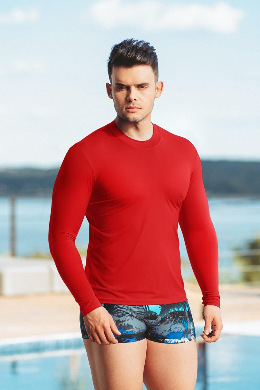 Camisa Manga Longa com Proteção Solar UV 50+ Masculina