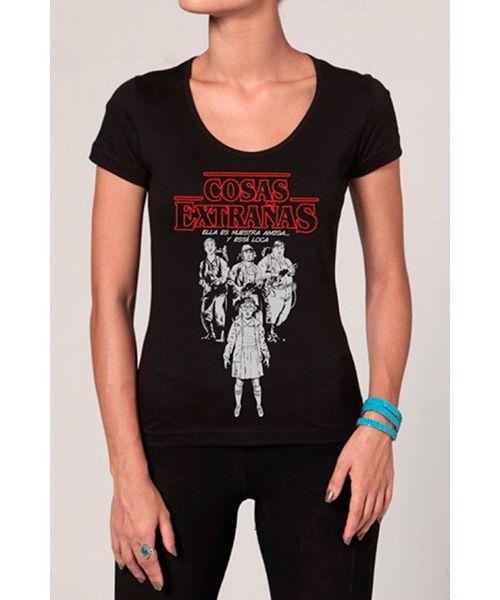 Camiseta Chico Rei: Stranger Things - Cosas Extrañas