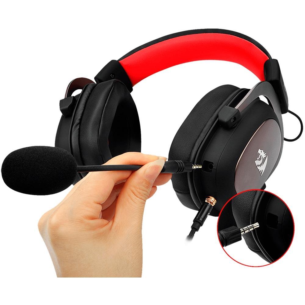 Headset Gamer Redragon Zeus 7.1 Surround Preto/Vermelho