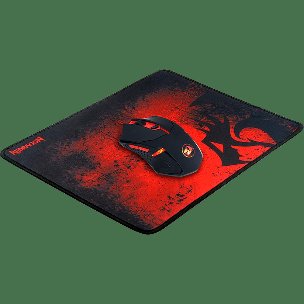 Kit Redragon Mouse Centrophorus LED Vermelho + Mousepad Control