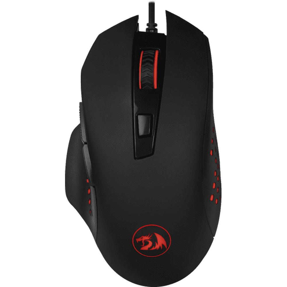 Mouse Gamer Redragon Gainer 3200 DPI 6 Botões - Preto