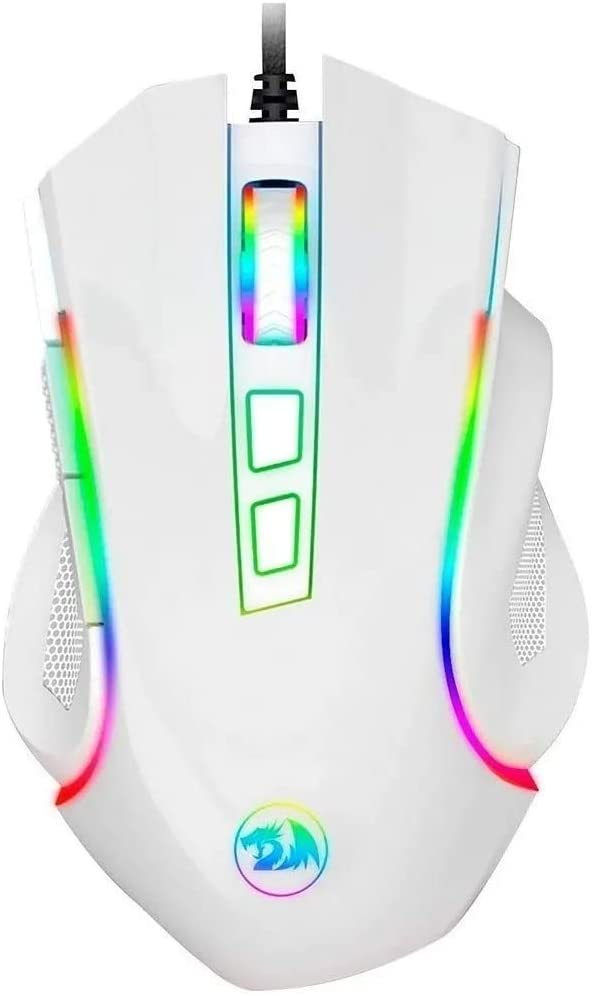Mouse Gamer Redragon Griffin RGB 7200dpi - Branco