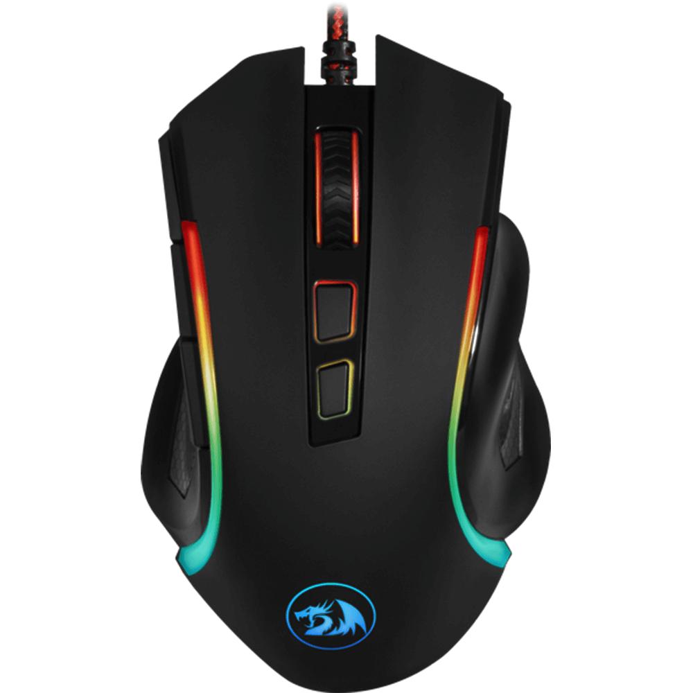 Mouse Gamer Redragon Griffin RGB 7200dpi - Preto