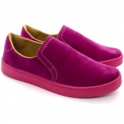 Tenis Feminino Calce Fácil Slip-on Colors Pink