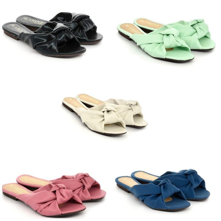 Rasteira Sandália Super Confort Linho Color