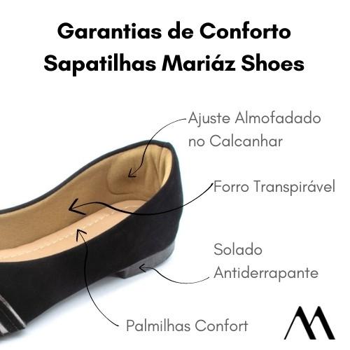Sapatilha Feminina Detalhe 2 Nós Nobucado Confort