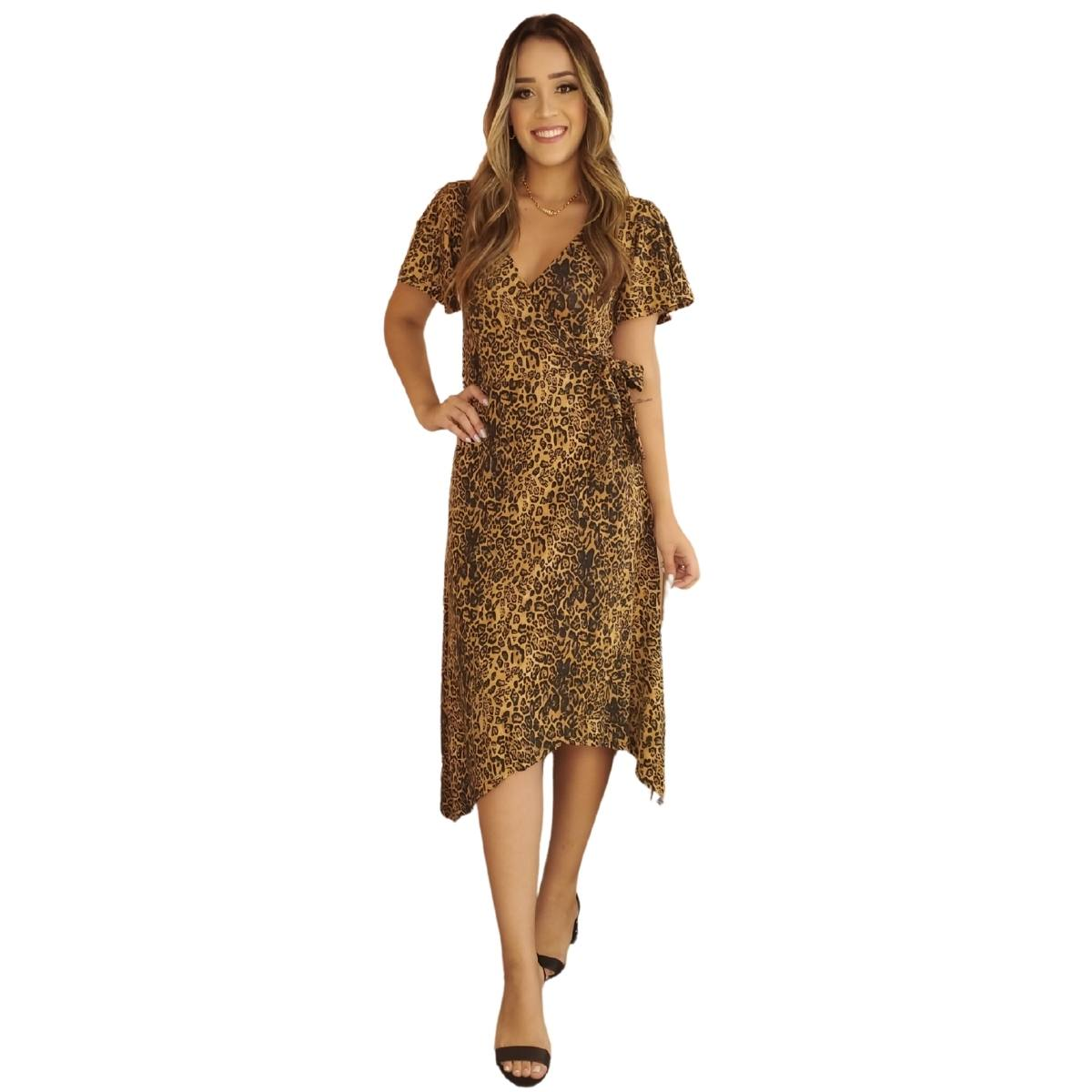Vestido Midi Transpasse Malha Soft Confort